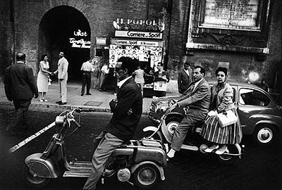 © William Klein: Piazzale Flaminio, 1956. Silver gelatin print