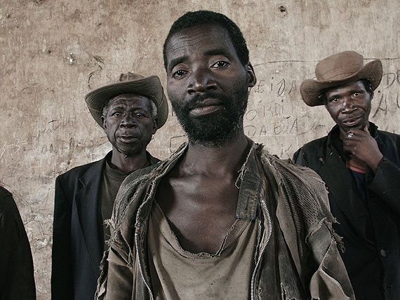 """Guy TillimJustino Ngene, Laurino Bongue and Faucino Hando from the series """"Kunhinga"""", 2002Digital pigment print on coated cotton paperComments: © Guy TillimCourtesy the artist and  Michael Stevenson gallery"""