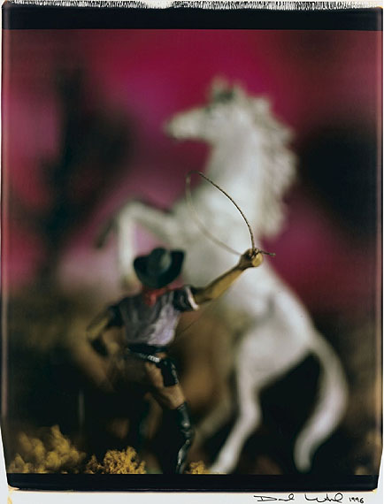 Lot 28David LevinthalCowboy with Lasso (from Wild West), 1996Lot 28, unique large-format Polaroid Polacolor printEstimate:$5,000 - $7,000© 1996 David Levinthal