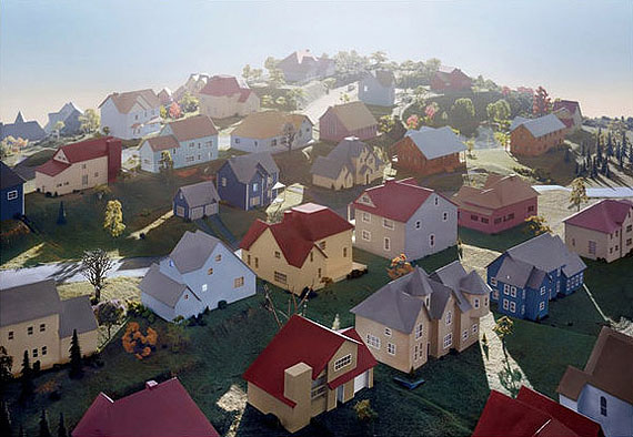 James CasebereLandscape with Houses (Dutchess County, NY)#1, 2009Framed Digital chromogenic print119 x 168 x 8 cmCourtes Galería Helga de Alvear, Madrid