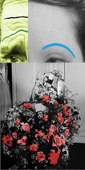 John BaldessariRaised Eyebrows/Furrowed Foreheads: Bouquet, 2009Three dimensional archival print laminated with lexan and mounted on Sintra with acrylic paint213,4 x 107,5 cmCourtesy Galerie Greta Meert, Bruxelles