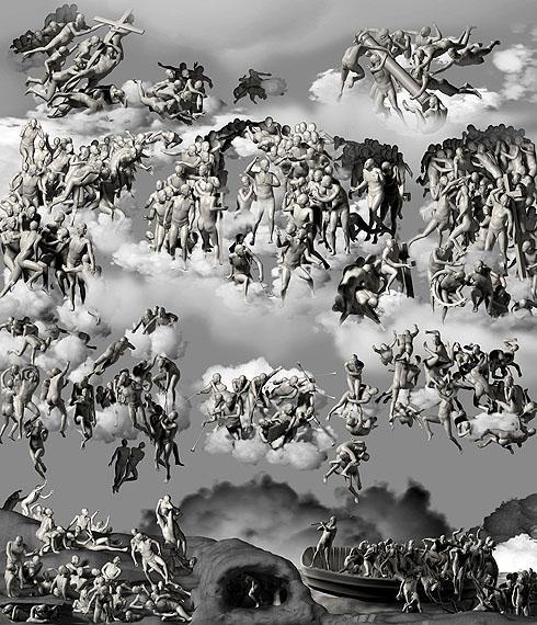 The-Last-Judgement-in-Cyberspace-the-Below-View, 2006, C-print, 385 x 480 cm © Miao Xiaochun