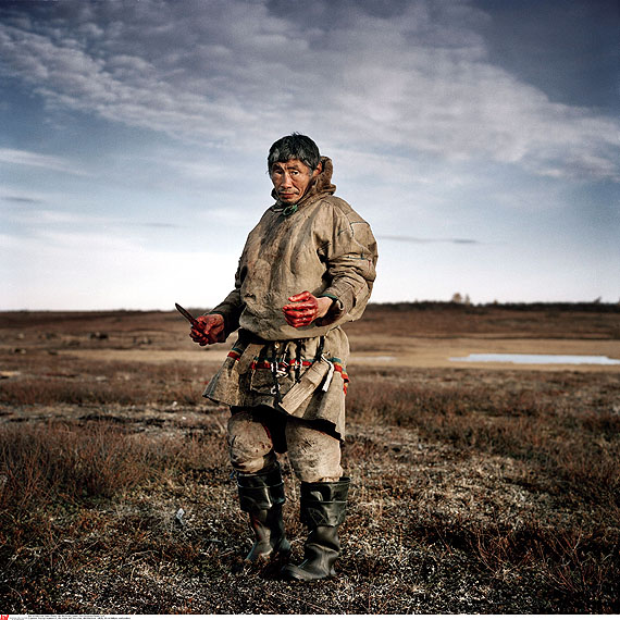Title: Yamal Peninsula – Home of the NenetCredit: Yuri Kozyrev / NOOR / laif for Russian Reporter Caption-line: Yama, Russia, October 2009: Vasilyi Ivanovitch, the elder oft he Nenet Tribe