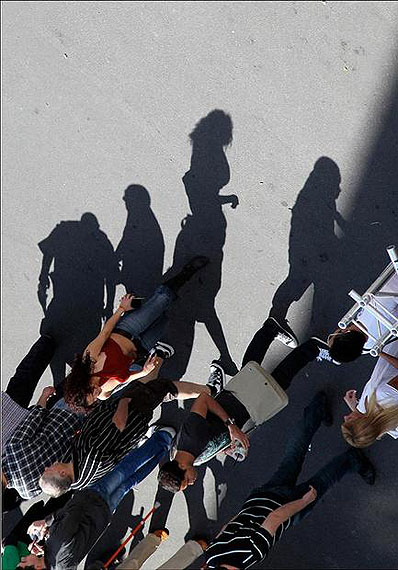 Shadows cast people
