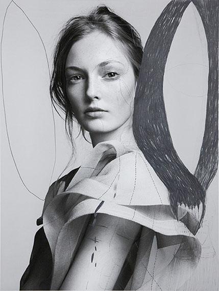 Tina Berning und Michelangelo Di BattistaPERNILLE, graphite on Ditone Print, unique copy, 2010