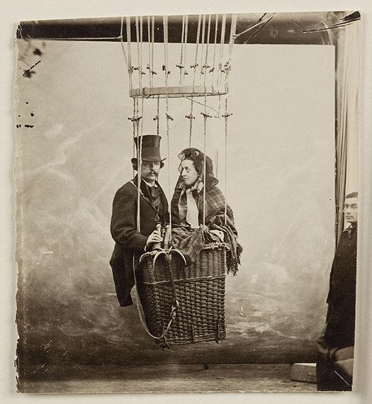 Gaspard Félix Tournachon dit Nadar: Nadar mit seiner Frau Ernestine, Paris, um 1865Albuminpapier, 9x8 cmSammlung Thomas Walther