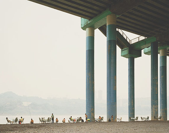 "Nadav Kander: ""Chongqing VI (Sunday Afternoon)""(2006) C-Print. 75cm x 100cm - Edition of 5; 100cm x 125cm - Edition of 5; 120cm x 150cm - Edition of 3."