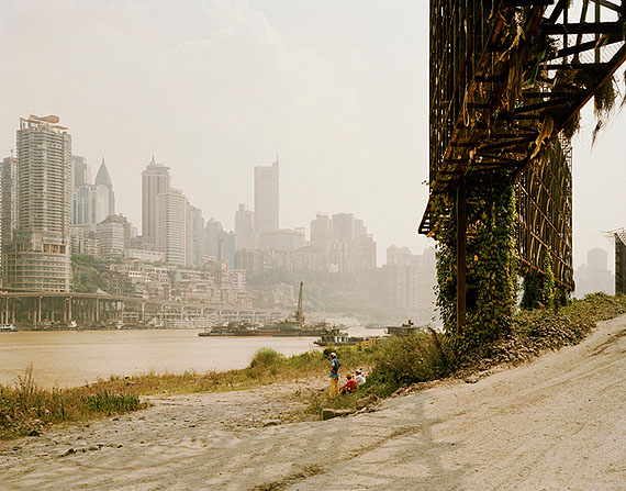 """Nadav Kander: """"Chongqing II""""(2006) C-Print. 75cm x 100cm - Edition of 5; 100cm x 125cm - Edition of 5; 120cm x 150cm - Edition of 3"""