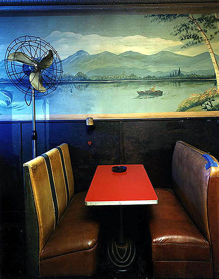 Booth & Fan, Yonda's Bar, 1987 by Bruce Wrighton