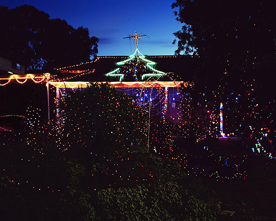 Trent ParkeHouse and Christmas lights, 2007series: The Christmas Tree Bucketpigment prints editions of 8 + 2 AP72 x 90cm