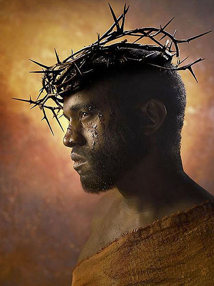 DAVID LACHAPELLE Kanye West: Passion of the Christ2009 101,6 x 76,2 cm. 40 x 30 inches