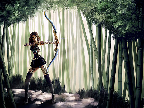 Anderson & Low, Untitled (Forest Defender), 2009, Manga Dreams, courtesy of Hamiltons Gallery