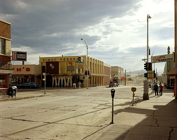 Stephen Shore (American, b. 1947): 2ND STREET EAST AND SOUTH MAIN STREET, KALISPELL, MONTANA, AUGUST 22, 1974© Stephen Shore