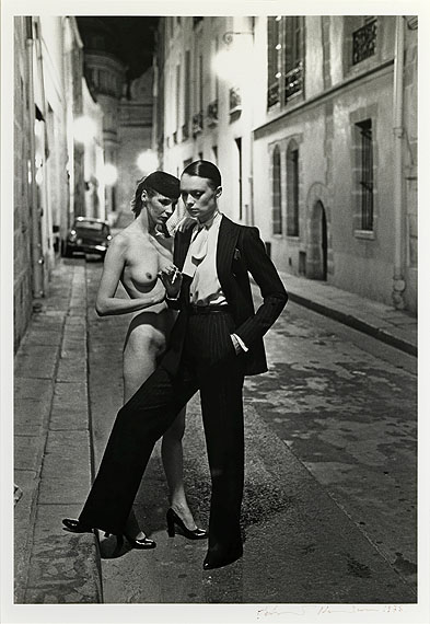 Helmut Newton, Rue Aubroit, Fashion Model & Nude, 1975, © Helmut Newton Foundation, courtesy of Hamiltons Gallery