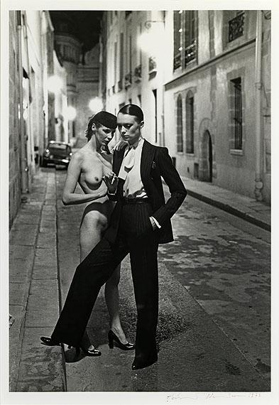Helmut Newton, Rue Aubroit, Fashion Model & Nude, 1975, © Helmut Newton Foundation, courtesy of Hamiltons Gallery