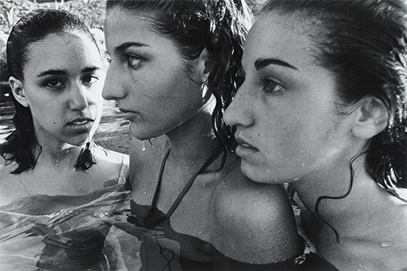 William Klein (1928-)Three Greek heirettes, Greece, 1963Silver print, 1982, without frame,50 x 59 x 3 cm with frameEdition number unknown© BONO 2011