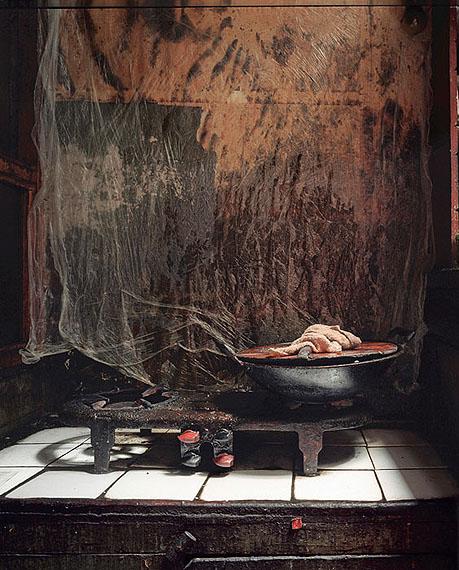 "ROBERT VAN DER HILST: ""Chinese Interiors #2: Kitchen Stove in a Suburban Home. Shanghai"" (2004) Archival pigment print. 46cm x 56cm - Ed. of 15; 67cm x 80cm - Ed. of 10; 110cm x 131cm - Ed. of 5. © Robert van der Hilst. Courtesy of m97 Gallery."
