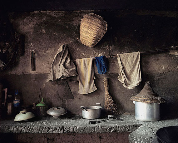 "ROBERT VAN DER HILST: ""Chinese Interiors #11: Kitchen Interior. Haiyan Village on Lake Dianchi, Yunnan Province"" (2006) Archival pigment print. 46cm x 56cm - Ed. of 15; 67cm x 80cm - Ed. of 10; 110cm x 131cm - Ed. of 5. © Robert van der Hilst. Courtesy of m97 Gallery."