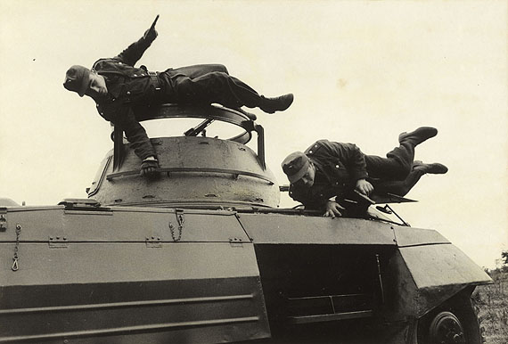 © Ernst Haas / Magnum Photos - German Border Patrol Exercising, Coburg, Germany, 1953