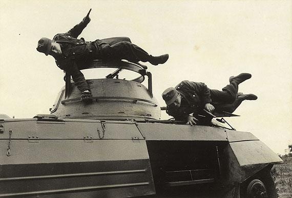 © Ernst Haas / Magnum Photos - German Border Patrol Exercising, Coburg, Germany, 1953
