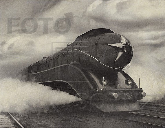 Arkadiy Shaykhet. Express train, 1939
