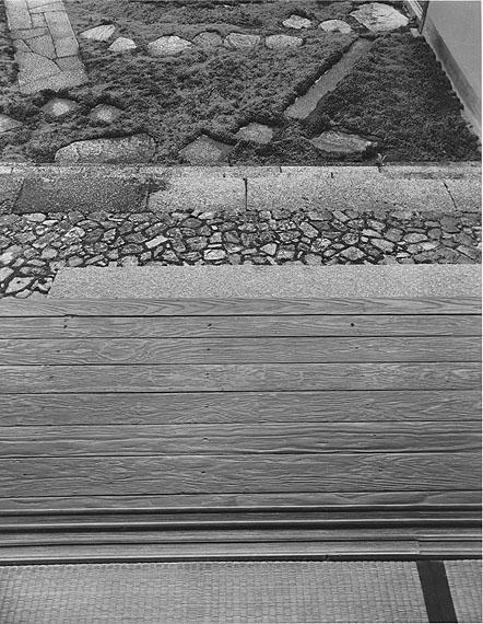 Steinstufen und Pavimente, Haupteingang des Alten Shoin-Baus