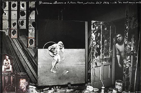Peter BeardFrancis Bacon, 7 Reece Mews, London, 1972Gelatin silver print with collageEstimate: $10,000 - 15,000© 2011 Bonhams & Butterfields