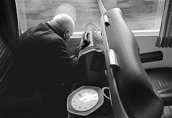 Hugo Jaeggi, Im Zug Brüssel-Basel, 1988