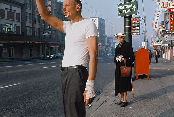 Fred Herzog, Man With Bandage, 1968. Courtesy of Equinox Gallery and Canadian Museum of Contemporary Photography, Ottawa