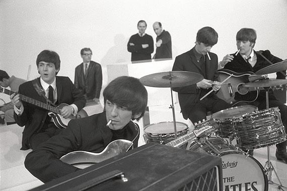 © Max Scheler, The Beatles am Set für A Hard Day´s Night, Großbritannien, 1964