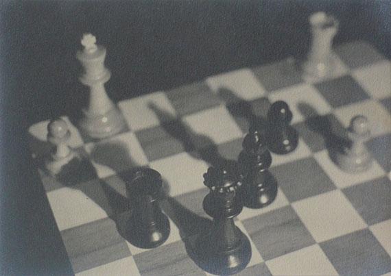 Chessboard c.1930 © Imre Kinszki.  Vintage silver gelatin print.