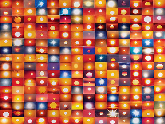 Penelope Umbrico - 8,799,661 Suns From Flickr (Partial) 3/8/11, 2011