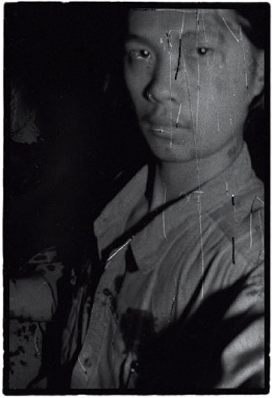 RongRong, Self-portrait, East Village, Beijing 1994, 1994, Gelatin silver print, 150 x 100 cm (Edition of 10) / 61 x 50.8 cm (Edition of 12). (Image courtesy of the artists and Blindspot Gallery)