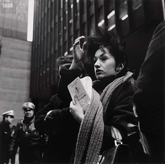 Vivian Maier, Untitled (woman with ticket), n.d.