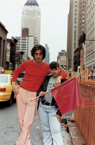Wolfgang TillmansMichael Bergin & Fan, holding Flag, 1995