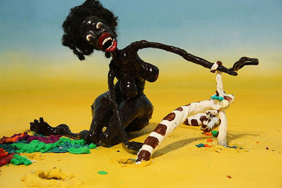 Nathalie DjurbergDeceiving Looks 2011Clay animation, digital video, music by Hans Berg...Courtesy Giò Marconiwww.giomarconi.com