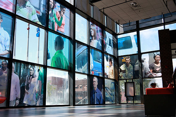 Beat Streuli  - 24 translucent images mounted on glass, 190 x 190 cm each ('Untitled (Cape Town 09)', 2009)