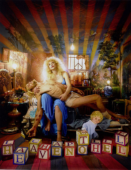 Lot No: 80David LaChapelle (American, born 1964)Courtney Love: Pieta, Los Angeles, 2006Digital C-type print.60.5 x 50.5cm (23 13/16 x 19 7/8in).Estimate: £7,000 - 9,000, US$ 11,000 - 14,000