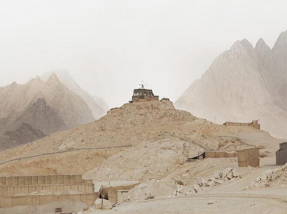 Donovan Wylie, OP1. Forward Operating Base, Masum Ghar. Kandahar Province. Afghanistan, 2010© Donovan Wylie, Courtesy of the artist