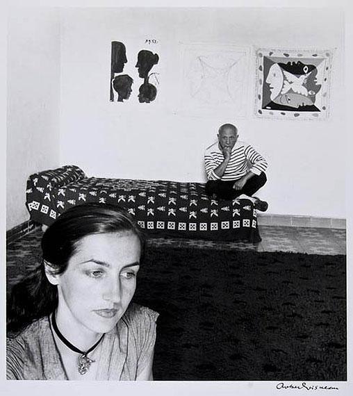 Robert DoisneauPicasso et Françoise Gilot, 1952Gelatin silver printEstimate: £3,000-5,000