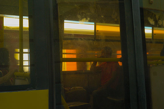 Jelty Bus,Chernowitz, 2011© Boris Savelev. Multi-layered pigment print on gesso coated aluminium.110x164cm. Edition of 3.