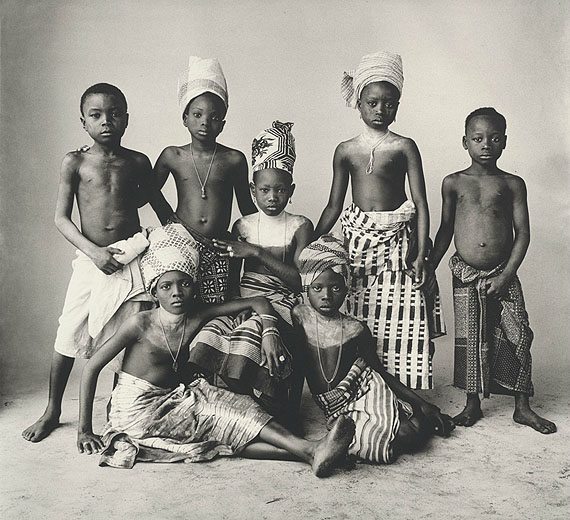 IRVING PENNDahomey Children, 1967Platinum palladium print mounted to aluminumc. 48 x 53 cmEdition of 45© The Irving Penn Foundation