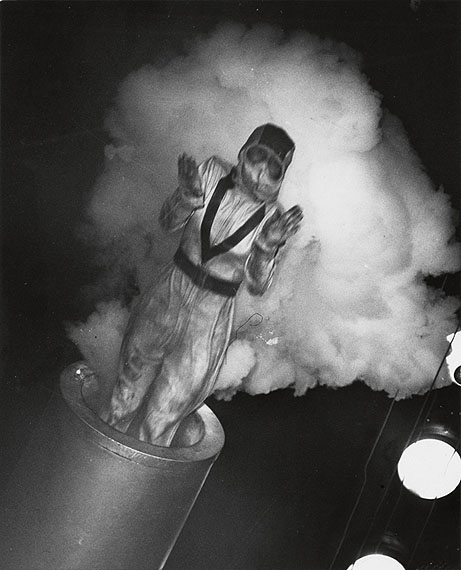 Lot 168: Weegee, Human Cannonball, ferrotyped silver print, 1943. Estimate $3,000 to $4,500.© Weegee Estate at the International Center of Photography, NYC.