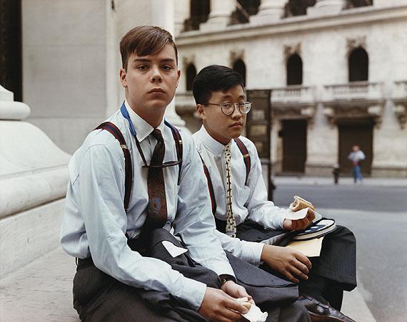 Summer Interns Having Lunch, Wall street, New York, 1987 © Joel Sternfeld and Luhring Augustine, New York