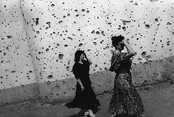 © Thomas Dworzak/MagnumphotosCHECHNYA, Grozny. 7/1996. The shrapnel-splattered wall of the Central Exhibition Hall.