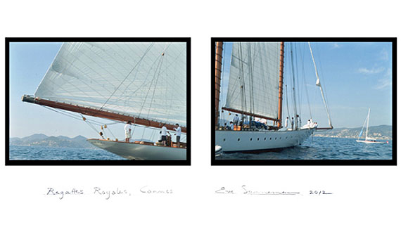EVE SONNEMANREGATTES ROYALES, CANNES, 2012digitally printed photograph on Japanese paper, diptych, ed. 1020 x 30 in.   50.8 x 76.2 cm.