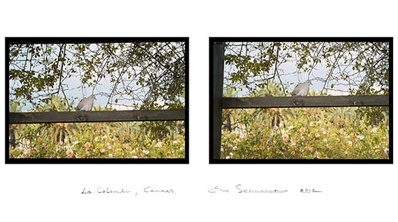 EVE SONNEMANLA COLOMBE, CANNES, 2012digitally printed photograph on Japanese paper, diptych, ed. 1020 x 30 in.   50.8 x 76.2 cm.