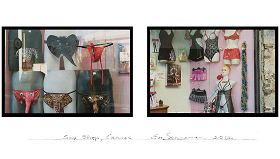EVE SONNEMANSEX SHOP, CANNES, 2012digitally printed photograph on Japanese paper, diptych, ed. 1020 x 30 in.   50.8 x 76.2 cm.