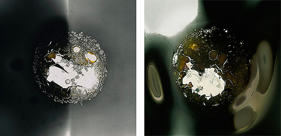 Claus Stolz: Sun 180A, 180E, Heliographie, 80 x 80cm, 2011