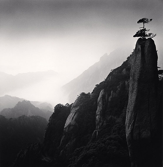 """Huangshan Study 25"" (2009)Silver gelatin print. 20cm x 20cm - Edition of 45. © Michael Kenna. Courtesy of m97 Gallery."